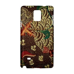 Art Traditional Flower  Batik Pattern Samsung Galaxy Note 4 Hardshell Case by BangZart