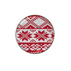Crimson Knitting Pattern Background Vector Hat Clip Ball Marker by BangZart