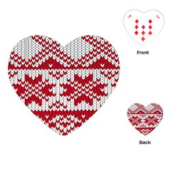 Crimson Knitting Pattern Background Vector Playing Cards (heart)