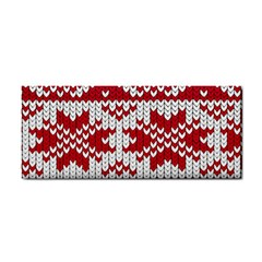 Crimson Knitting Pattern Background Vector Cosmetic Storage Cases by BangZart