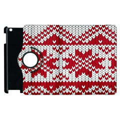 Crimson Knitting Pattern Background Vector Apple Ipad 2 Flip 360 Case by BangZart