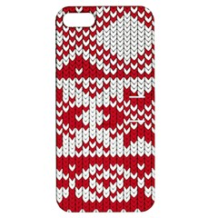 Crimson Knitting Pattern Background Vector Apple Iphone 5 Hardshell Case With Stand