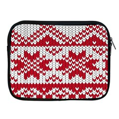 Crimson Knitting Pattern Background Vector Apple Ipad 2/3/4 Zipper Cases by BangZart