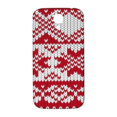 Crimson Knitting Pattern Background Vector Samsung Galaxy S4 I9500/i9505  Hardshell Back Case by BangZart