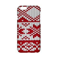 Crimson Knitting Pattern Background Vector Apple Iphone 6/6s Hardshell Case by BangZart