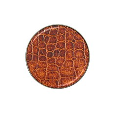 Crocodile Skin Texture Hat Clip Ball Marker (4 Pack)