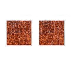 Crocodile Skin Texture Cufflinks (square) by BangZart