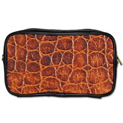 Crocodile Skin Texture Toiletries Bags