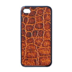 Crocodile Skin Texture Apple Iphone 4 Case (black)