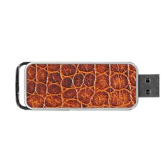 Crocodile Skin Texture Portable Usb Flash (two Sides)