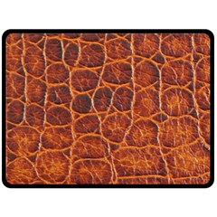 Crocodile Skin Texture Double Sided Fleece Blanket (large)  by BangZart
