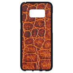 Crocodile Skin Texture Samsung Galaxy S8 Black Seamless Case by BangZart