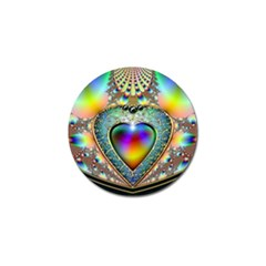 Rainbow Fractal Golf Ball Marker (10 Pack) by BangZart