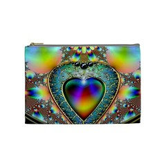 Rainbow Fractal Cosmetic Bag (medium)  by BangZart