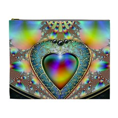 Rainbow Fractal Cosmetic Bag (xl) by BangZart