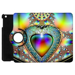 Rainbow Fractal Apple Ipad Mini Flip 360 Case by BangZart