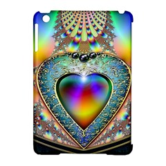 Rainbow Fractal Apple Ipad Mini Hardshell Case (compatible With Smart Cover) by BangZart