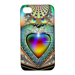 Rainbow Fractal Apple Iphone 4/4s Hardshell Case With Stand by BangZart
