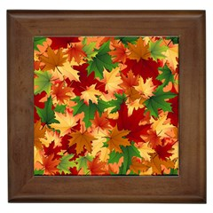 Autumn Leaves Framed Tiles by BangZart