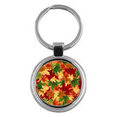 Autumn Leaves Key Chains (round)  by BangZart