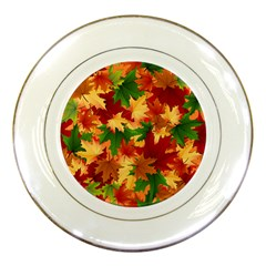 Autumn Leaves Porcelain Plates by BangZart