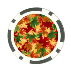 Autumn Leaves Poker Chip Card Guard by BangZart