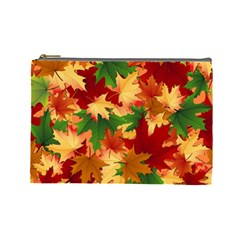 Autumn Leaves Cosmetic Bag (large)  by BangZart