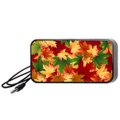 Autumn Leaves Portable Speaker (black) by BangZart