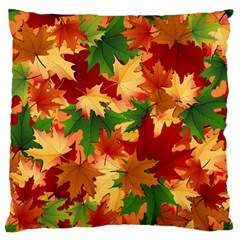 Autumn Leaves Large Cushion Case (one Side) by BangZart