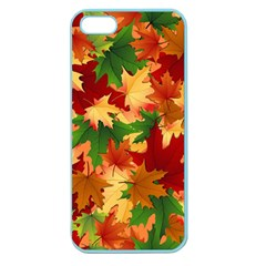 Autumn Leaves Apple Seamless Iphone 5 Case (color) by BangZart