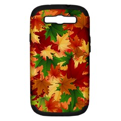Autumn Leaves Samsung Galaxy S Iii Hardshell Case (pc+silicone) by BangZart