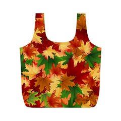 Autumn Leaves Full Print Recycle Bags (m)  by BangZart