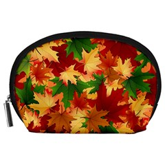 Autumn Leaves Accessory Pouches (large)  by BangZart
