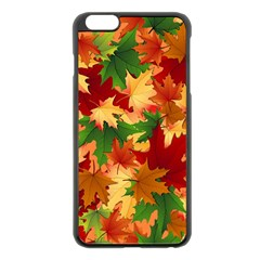 Autumn Leaves Apple Iphone 6 Plus/6s Plus Black Enamel Case by BangZart