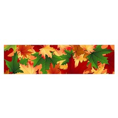 Autumn Leaves Satin Scarf (oblong)