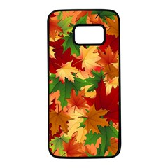 Autumn Leaves Samsung Galaxy S7 Black Seamless Case by BangZart