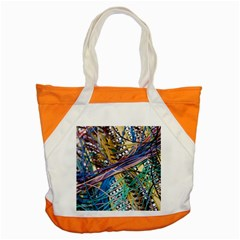 Circuit Computer Accent Tote Bag by BangZart