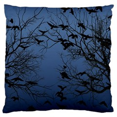 Crow Flock  Large Cushion Case (two Sides)