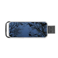 Crow Flock  Portable Usb Flash (one Side) by Valentinaart