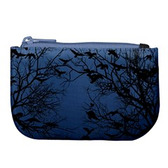 Crow Flock  Large Coin Purse