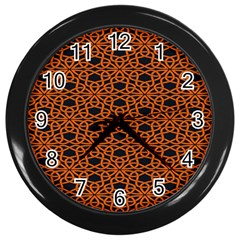 Triangle Knot Orange And Black Fabric Wall Clocks (black) by BangZart