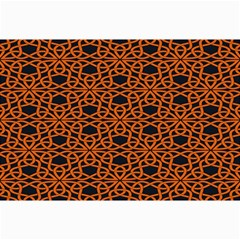 Triangle Knot Orange And Black Fabric Canvas 24  X 36  by BangZart