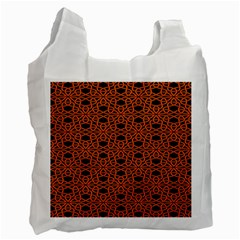 Triangle Knot Orange And Black Fabric Recycle Bag (two Side)  by BangZart