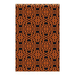 Triangle Knot Orange And Black Fabric Shower Curtain 48  X 72  (small)