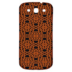 Triangle Knot Orange And Black Fabric Samsung Galaxy S3 S Iii Classic Hardshell Back Case by BangZart