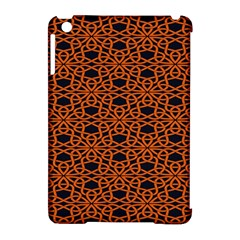 Triangle Knot Orange And Black Fabric Apple Ipad Mini Hardshell Case (compatible With Smart Cover) by BangZart