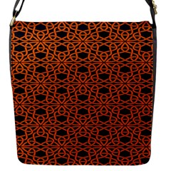 Triangle Knot Orange And Black Fabric Flap Messenger Bag (s) by BangZart