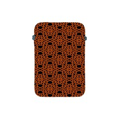 Triangle Knot Orange And Black Fabric Apple Ipad Mini Protective Soft Cases