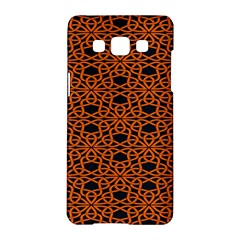 Triangle Knot Orange And Black Fabric Samsung Galaxy A5 Hardshell Case  by BangZart