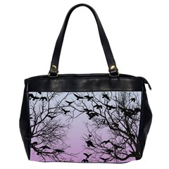 Crow Flock  Office Handbags (2 Sides)  by Valentinaart